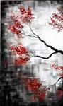 Cherry Blossom 1, painting by Anuj Malhotra, Acrylic on canvas, 30 X 18 inches