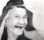 The Happiness, painting by Nilesh Potdar, Charcoal on paper, 8.3 x 11.7 inches