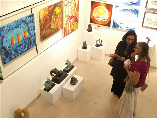Pictures from Emerging Artists Show (Edition II), at Indiaart Gallery