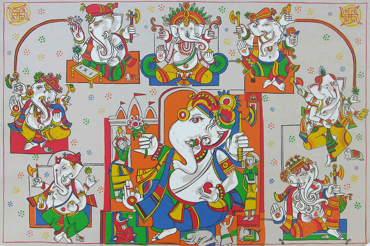 Astavinayak, Limited Edition Print by Artist Jagdeep Smart