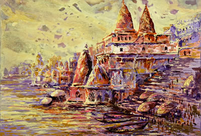 Art, Artworks and paintings for Banaras theme in Indiaart.com