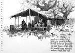 Beyond Highway NH4 Sketches by Anwar Husain