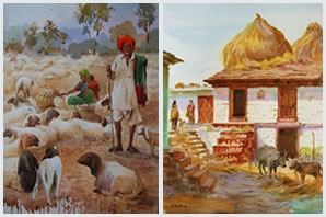 Indiaart - Rural Life Paintings