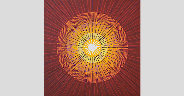Sun, Painting by Shivshakti Das, Acrylic on Canvas, 24 x 24 inches