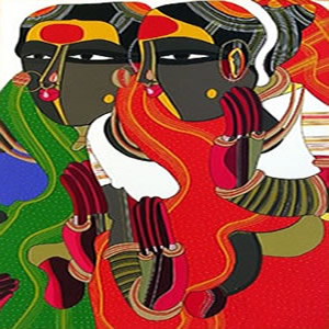 Untitled VII, Print by Thota Vaikuntam