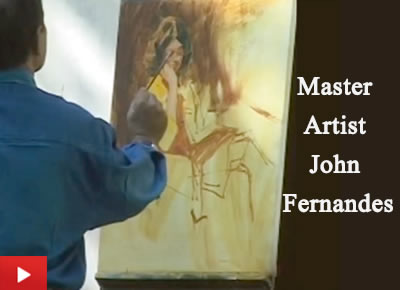 Painting demonstration by master artist John Fernandes