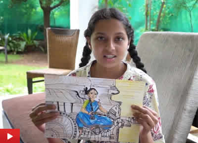 Ananya Kirsur talks about her shortlisted painting