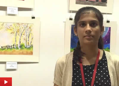 Vaishnavee Puntambekar talks about her painting