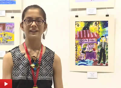 Rucha Damle from Gokuldham High School, talks about her painting