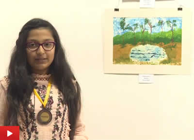 Vidisha Ajmera from Mumbai talks about her painting