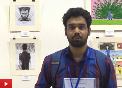 Apurv Thakur from Delhi talks about his painting