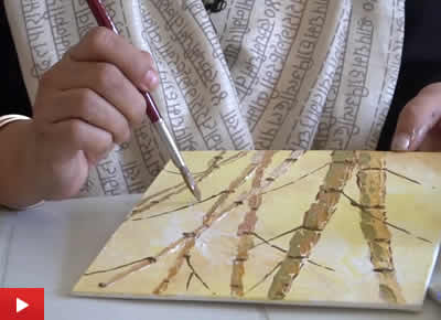 Step by step canvas painting video by artist Chitra Vaidya