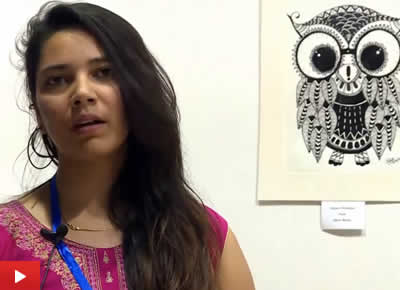 Antara Chowkase talks about her painting