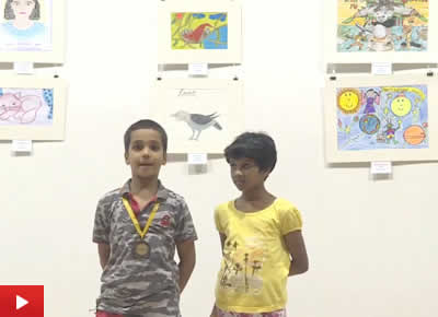 Ojas Chincholi from Sevasadan School, Pune, talks about his painting
