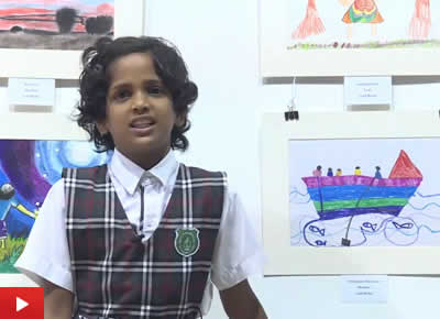 Chinmayee Naravane talks about her medal winning painting at Khula Aasmaan exhibition