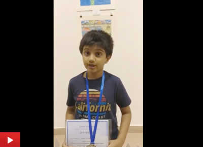 Aarav Kanekar talks about his silver medal winning painting