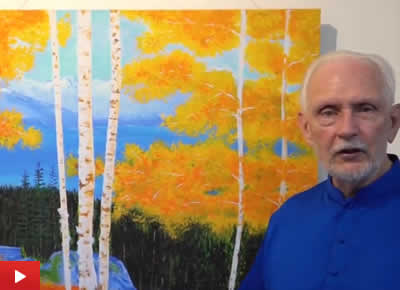 Nayaswami Jyotish talks about his painting Tahoe Autumn