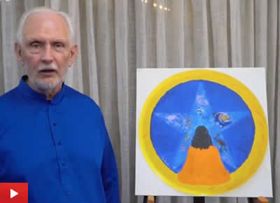Nayaswami Jyotish talks about his painting King of the Infinite