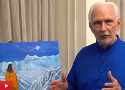 Nayaswami Jyotish talks about his painting Guru Purnima