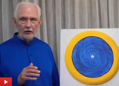 Nayaswami Jyotish talks about his painting Meditation on the Spiritual Eye