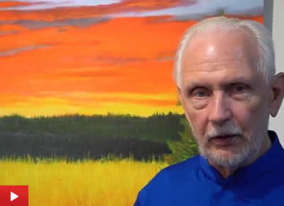 Nayaswami Jyotish talks about his painting Jyotish Sunset