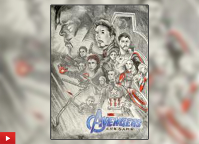 Avengers Endgame - Adreeja Gupta from Kolkata on her painting inspired by the film poster