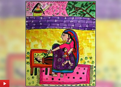 My Mother - Bhayani Rutva from Gujarat talks about her painting of her mother
