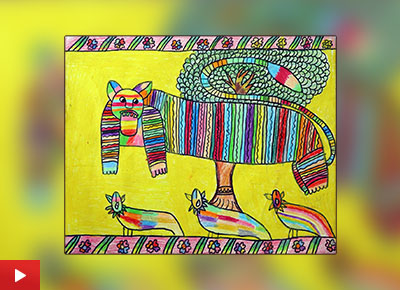 Bhayani Bhavya from Surat talks about her painting