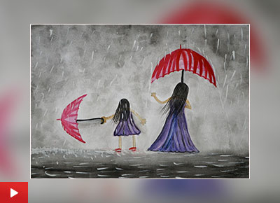 Happy Mother's Day, painting by Sarayu Vollala (class 5) from Hyderabad