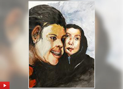Sister Love, painting by Susmita Roy (13 years) from Jalpaiguri, West Bengal
