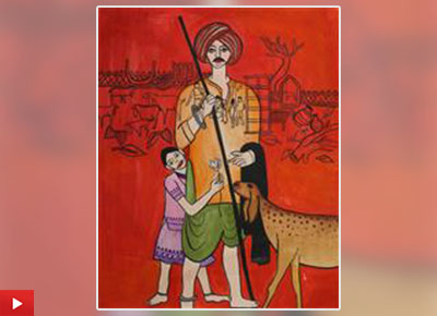 Farmer - Bristi Gopani from Surat talks about her painting