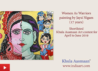 Women Empowerment - Jaysi Nigam from Varanasi talks about his painting