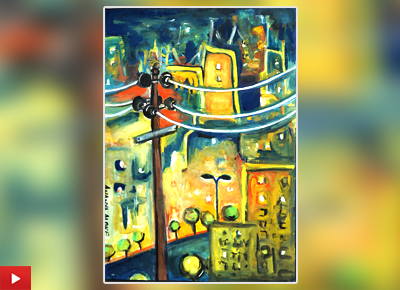Ananya Aloke from Navi Mumbai talk about her medal winning painting on City Life