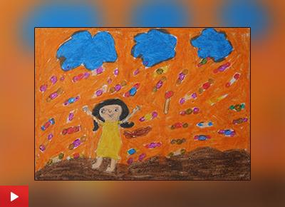 Chocolate painting by Kundana Listen to Kundana Vasant Bhusara (class 7)
