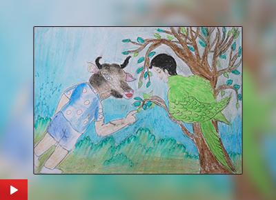 Conceptual painting video by Malati Ladkya Rinjad (class 11)