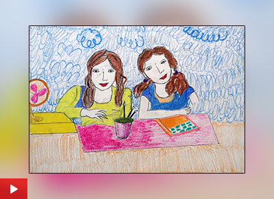 Child artist Vaishali talks about her painting of friends