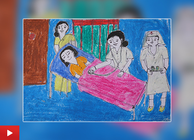 Doctor painting by Shilpa Dombare (class 9)