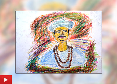 Sant Tukaram painting by Jagdeesh Krushna Lahare (class 8)