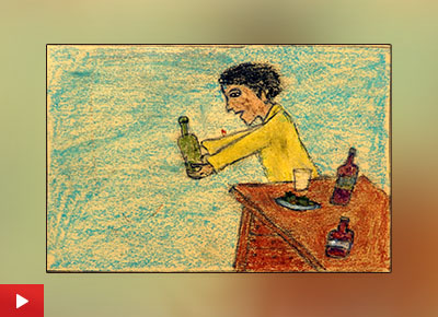 Stop Drinking painting by Shailesh Ganpat Dumda (class 9)