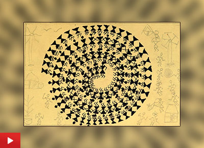 Warli painting by Pradum (class 6) got honorable mention in painting competition for children