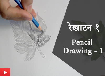 रेखाटन १ | Pencil Drawing - 1 |Learn how to draw Hibiscus leaf with pencil