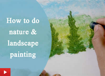 How to do landscape and nature painting with pine trees
