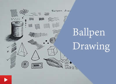 How to draw with a ballpen or ballpoint pen