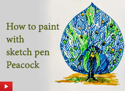 How to draw and paint with sketch pen