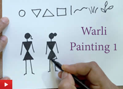 How to do Warli painting - 1