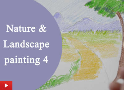 How to do nature and landscape painting with colour pencils - 4