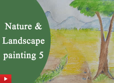 Landscape and nature painting with watercolour pencils - 5