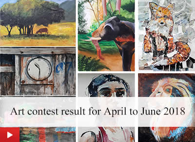 Art contest by Khula Aasmaan - result for April to June 2018
