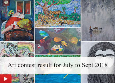 Art contest by Khula Aasmaan - result for July to September 2018