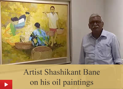 Artist Shashikant Bane talks about his oil paintings
